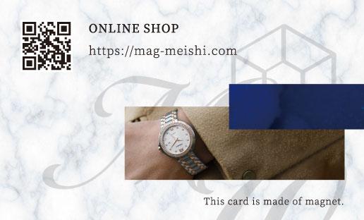 腕時計店のサンクスカード